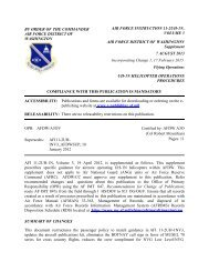 BY ORDER OF THE COMMANDER AIR FORCE ... - Air Force Link