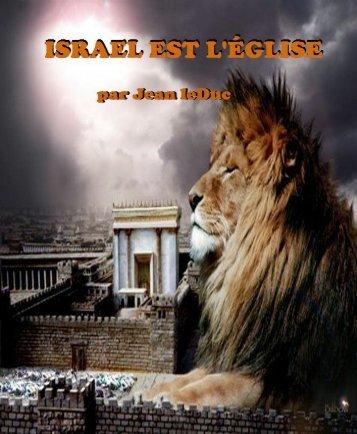 ISRAEL EST L'ÉGLISE