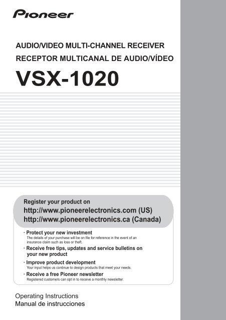 VSX-1020 Manual - Abt on