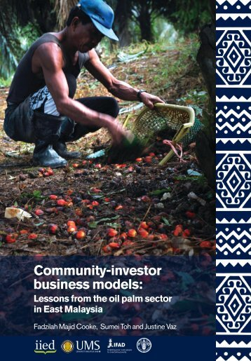 Community-investor business models: - Iied - International Institute ...