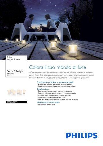 Philips Lampada da tavolo - Scheda tecnica - ITA