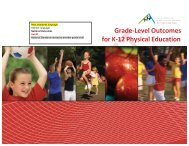 Grade-‐Level Outcomes for K-‐12 Physical Education