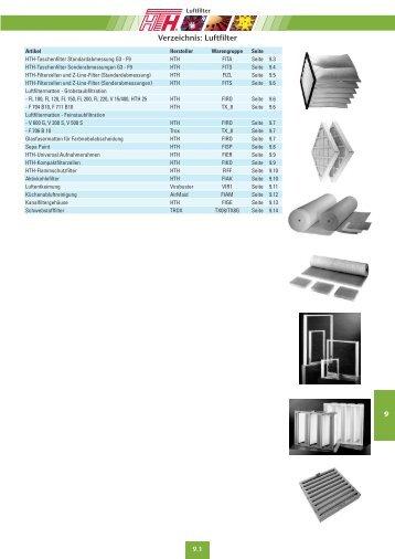 Technische Preisliste Kapitel 09 - 2012/04