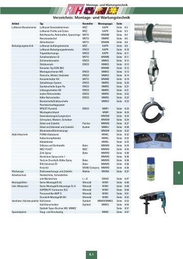 Technische Preisliste Kapitel 08 - 2012/04