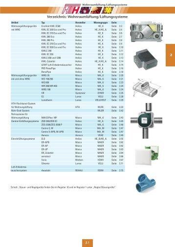 Technische Preisliste Kapitel 02 - 2012/04