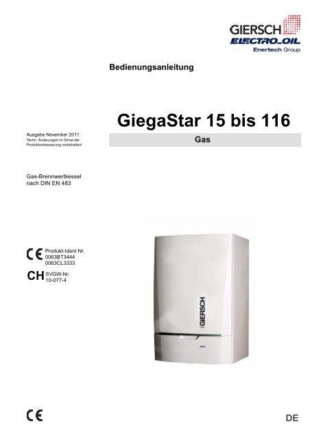 Giegastar 15 Bis 116 Enertech Gmbh Division Giersch Brenner