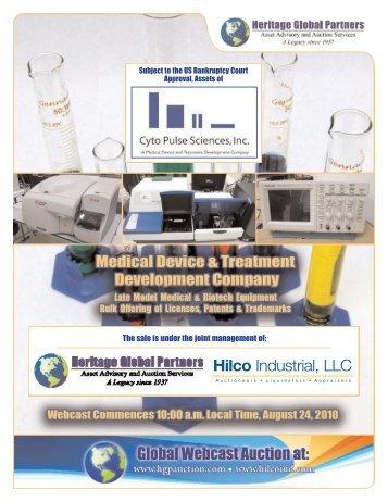Hilco - Liquidation Auction - Equipment Auctions | HGP Industrial ...