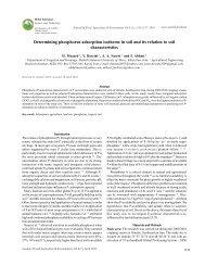 Determining phosphorus adsorption isotherm in soil ... - World-food.net