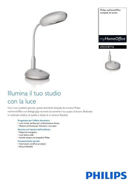 Philips Myhomeoffice Lampada Da Tavolo Scheda Tecnica Ita