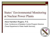 State's Environmental Monitoring at Nuclear Power Plants