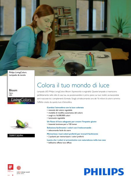 Philips Livingcolors Lampada Da Tavolo Scheda Tecnica Ita
