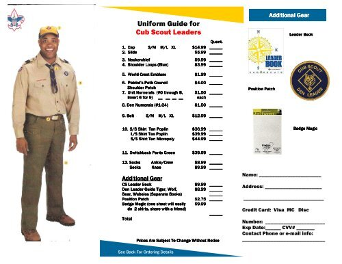 Uniform Guide for Cub Scout Leaders