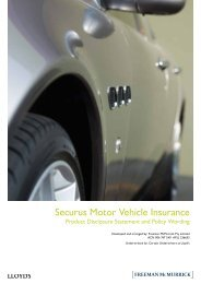 Securus Motor Vehicle Insurance