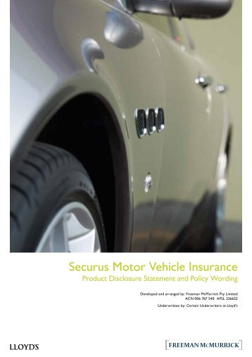 Securus Motor Vehicle Insurance