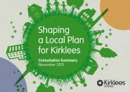 Shaping a Local Plan for Kirklees