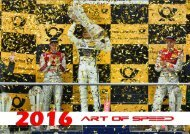 art of speed 2016 - Der Kalender zur DTM-Saison!