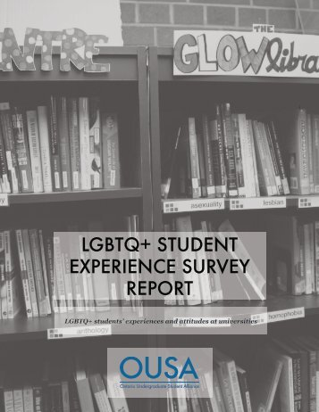 LGBTQ+ STUDENT EXPERIENCE SURVEY REPORT