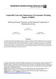 Vanderbilt University Department of Economics Working Papers 15-00012