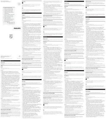 Philips Tostapane - Important Information Manual - DEU