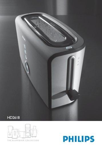 Philips Aluminium Collection Tostapane - Istruzioni per l'uso - NOR