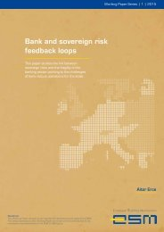 Bank and sovereign risk feedback loops