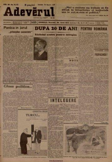 Adevarul 1936 p 3 anecdota Meseria si Firea Omului