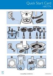 Philips Aluminium Collection Robot da cucina - Guida rapida - ENG