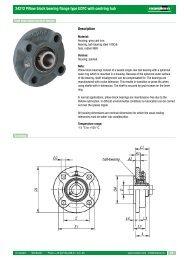 24212 Pillow block bearing flange type UCFC with centring hub