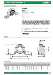24225 Pillow block bearing pedestal type BPP