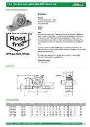 24240 Pillow block bearing pedestal type MUCP stainless steel