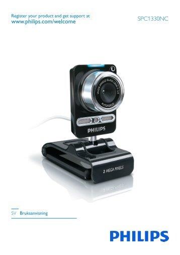 Philips Webcam - Istruzioni per l'uso - SWE