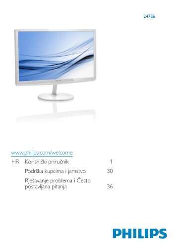 Philips Monitor LCD - Istruzioni per l'uso - HRV