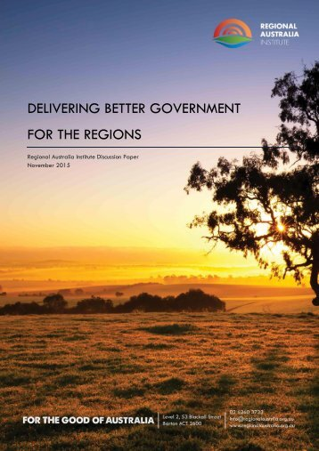 DELIVERING BETTER GOVERNMENT FOR THE REGIONS