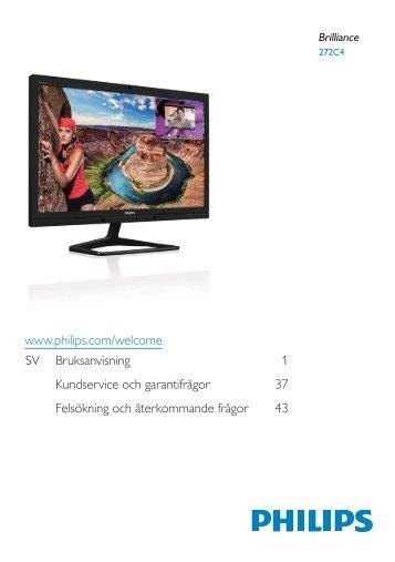 Philips Brilliance Monitor LCD con webcam e MultiView - Istruzioni per l'uso - SWE