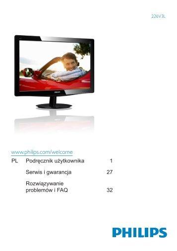 Philips Monitor LED - Istruzioni per l'uso - POL