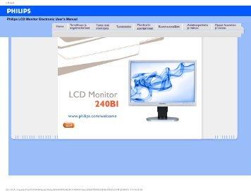 Philips Brilliance Monitor LCD con base Ergo, USB, audio - Istruzioni per l'uso - FIN