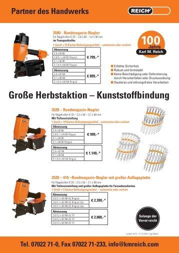 Reich Herbstaktion Kunststoffbindung