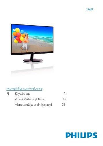 Philips Monitor LCD con SmartImage Lite - Istruzioni per l'uso - FIN