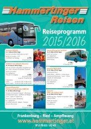 Reiseprogramm 2015-2016