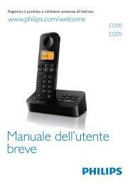 Philips Telefono cordless - Short User Manual - ITA