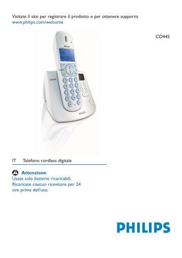 Philips Segreteria per telefono cordless - Istruzioni per l'uso - ITA