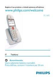 Philips XL Telefono cordless - Istruzioni per l'uso - ITA