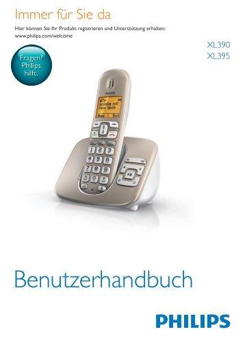 Philips Telefono cordless con segreteria - Istruzioni per l'uso - DEU