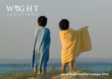 2016 Wight Locations Holiday Cottages Brochure