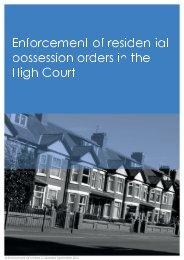Enforcementofresidential posesionordersinthe HighCourt