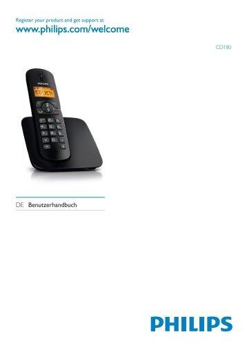 Philips BeNear Telefono cordless - Istruzioni per l'uso - DEU