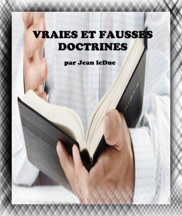 Vraies et Fausses Doctrines