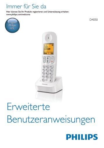 Philips Ricevitore aggiuntivo per telefono cordless - Istruzioni per l'uso - DEU