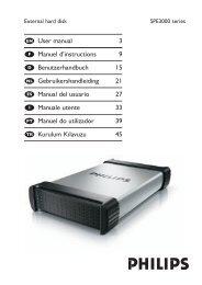 Philips Hard disk esterno - Istruzioni per l'uso - DEU
