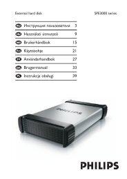 Philips Hard disk esterno - Istruzioni per l'uso - SWE